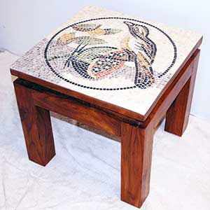 marble mosaic table top