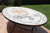 Provencal mosaic table top