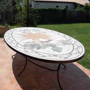 Provencal mosaic table top