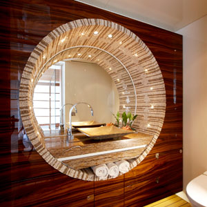 contemporary bathroom mosaic