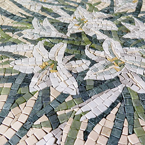 Mosaic table for a garden