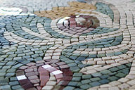 Mosaic table for pool house