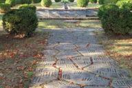 mosaic pathway in Art Deco garden