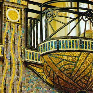 Art Deco style mosaics exhibition in the French Riviera