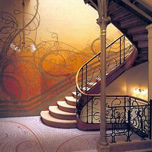 Art nouveau period mosaic