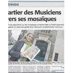 Press article on rachel's mosaic guided tour by the newspaper Nice Matin