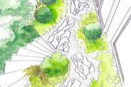 Garden and mosaic creation