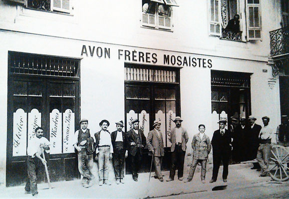 mosaic artists in Nice in 1900
